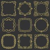 Doodle ustalona ręka rysujący element dla ram, logo, joga, etniczny projekt Złoto, błyskotliwość, błyskotliwość Ustawia Żadny 3 9 ilustracja wektor
