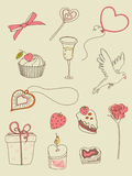 Doodle Valentine's Day icons Royalty Free Stock Photo