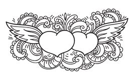 Doodle on Valentine's Day. Isolated template. Vector illustration Stock Photo