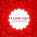 Doodle Valentine's day love postcard Royalty Free Stock Photography