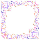 Doodle vector abstract corner frame. Doodle vector color abstract corner frame Royalty Free Stock Photos