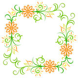 Doodle vector abstract flower frame. Doodle vector color abstract flower frame Royalty Free Stock Image