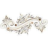 Doodle vector abstract flower ornament Royalty Free Stock Photo