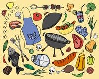 Doodle vector barbecue Stock Photos