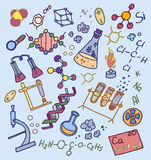 Doodle vector chemistry Stock Image