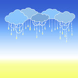 Doodle Vector Clouds. Abstract Cloud Background. Stock Images