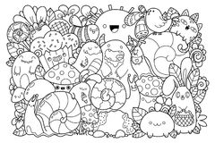 Doodle vector Stock Images