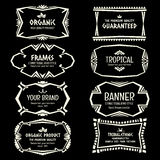 Doodle vector Ethnic Tribal  style frame collection in monochrom Stock Photo