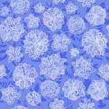 Doodle vector floral seamless wallpaper background pattern design Stock Images