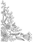 Doodle vector frame. Abstract floral doodle vector frame vector illustration