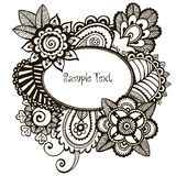 Doodle vector frame. Stock Photography