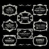 Doodle vector frame set.Ethnic Tribal  style frame collection. Stock Photography