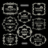 Doodle vector frame set.Ethnic Tribal  style frame collection. Stock Images