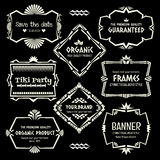 Doodle vector frame set.Ethnic Tribal  style frame collection. Royalty Free Stock Photos