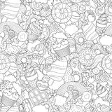 Doodle vector illustration, abstract background Stock Photo