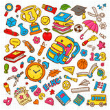 School Doodle Vector Illustration Collection Stock Photos