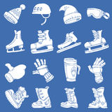 Doodle vector isolated Winter sports Royalty Free Stock Images