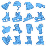 Doodle vector isolated Winter sports Stock Photo