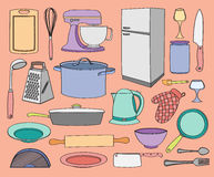 Doodle vector kitchen Royalty Free Stock Images