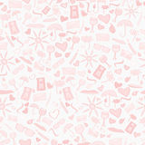 Doodle vector seamless love pattern Stock Photo