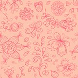 Doodle vector seamless pattern Royalty Free Stock Photo