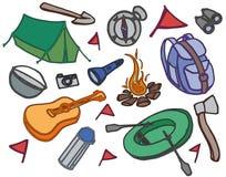 Doodle vector set of adventure Stock Image
