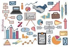 Doodle vector set of business Stock Photos