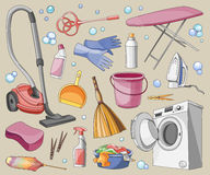 Doodle vector set of cleanup Royalty Free Stock Image