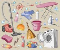 Doodle vector set of cleanup. Vector illustration, EPS 10 vector illustration