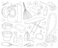 Doodle vector set of cleanup Stock Images