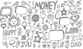Doodle Vector Set Royalty Free Stock Photography