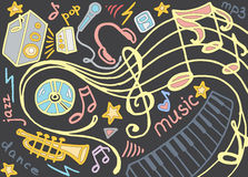 Doodle vector set of music Royalty Free Stock Image