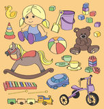 Doodle vector toys Stock Images