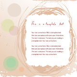 Doodle vintage frame. Pretty doodle vintage frame on abstract background with copyspace for your text Stock Photo