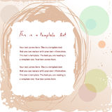 Doodle vintage frame. Pretty doodle vintage frame on abstract background with copyspace for your text Royalty Free Stock Image