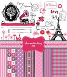 Doodle vintage objects - scrapbook collection Royalty Free Stock Photography