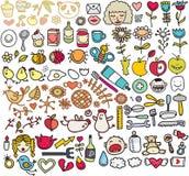 Смешивание изображений doodle. VOL. 5 Стоковые Изображения RF