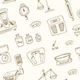 Doodle waży maszynowego bezszwowego deseniowego wektor Fotografia Stock
