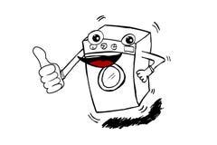 Doodle Washing Machine Royalty Free Stock Images