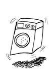 Doodle Washing Machine, isolated on white Stock Photography