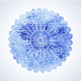 Doodle and watercolor flower Royalty Free Stock Images