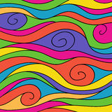 Doodle-waves-bright-1 Immagine Stock