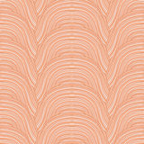 Doodle waves pattern. Vector background. Stock Images