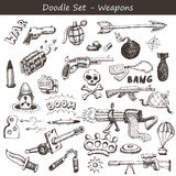 Doodle weapons Royalty Free Stock Images
