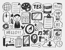 Doodle web background Royalty Free Stock Photo