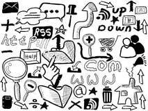 Doodle web elements Stock Photo