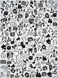 Doodle web icon background Stock Image