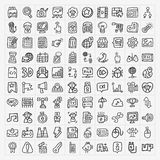 Doodle web icons set Royalty Free Stock Images
