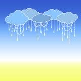 Doodle wektoru chmury tło abstrakcjonistyczna chmura Ilustracja Wektor