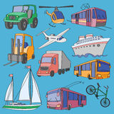 Doodle wektoru transport Zdjęcie Royalty Free